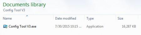 Locate Config Tool Setup File