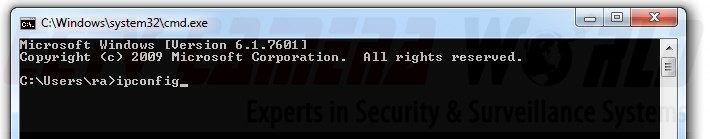 type ipconfig in command prompt