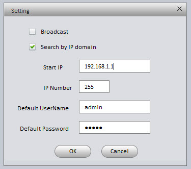 fill setting window as follows with router ip as start ip