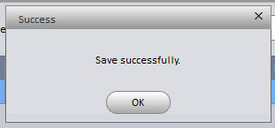 press ok to save successful