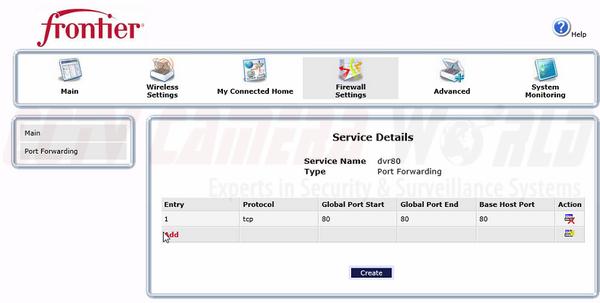 Frontier Netgear B90-75502 Router Port Forwarding for DVR