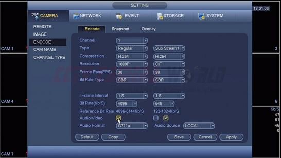 Click on Audio Video Checkbox