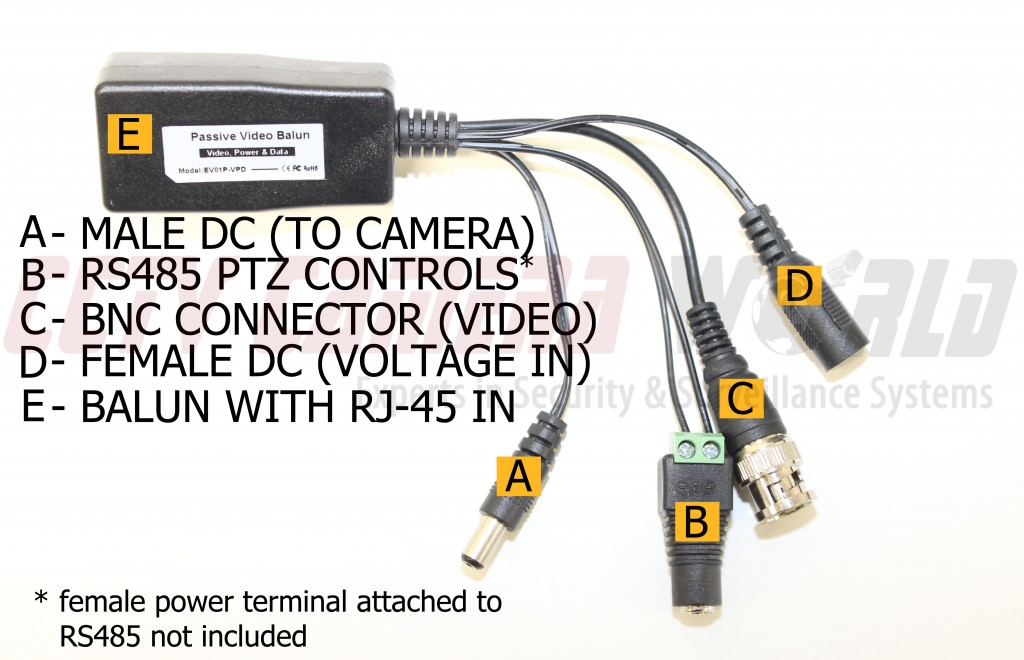how to connect an analog ptz camera using video power data baluns rh cctvcameraworld com bosch ptz camera wiring diagram ptz camera wiring