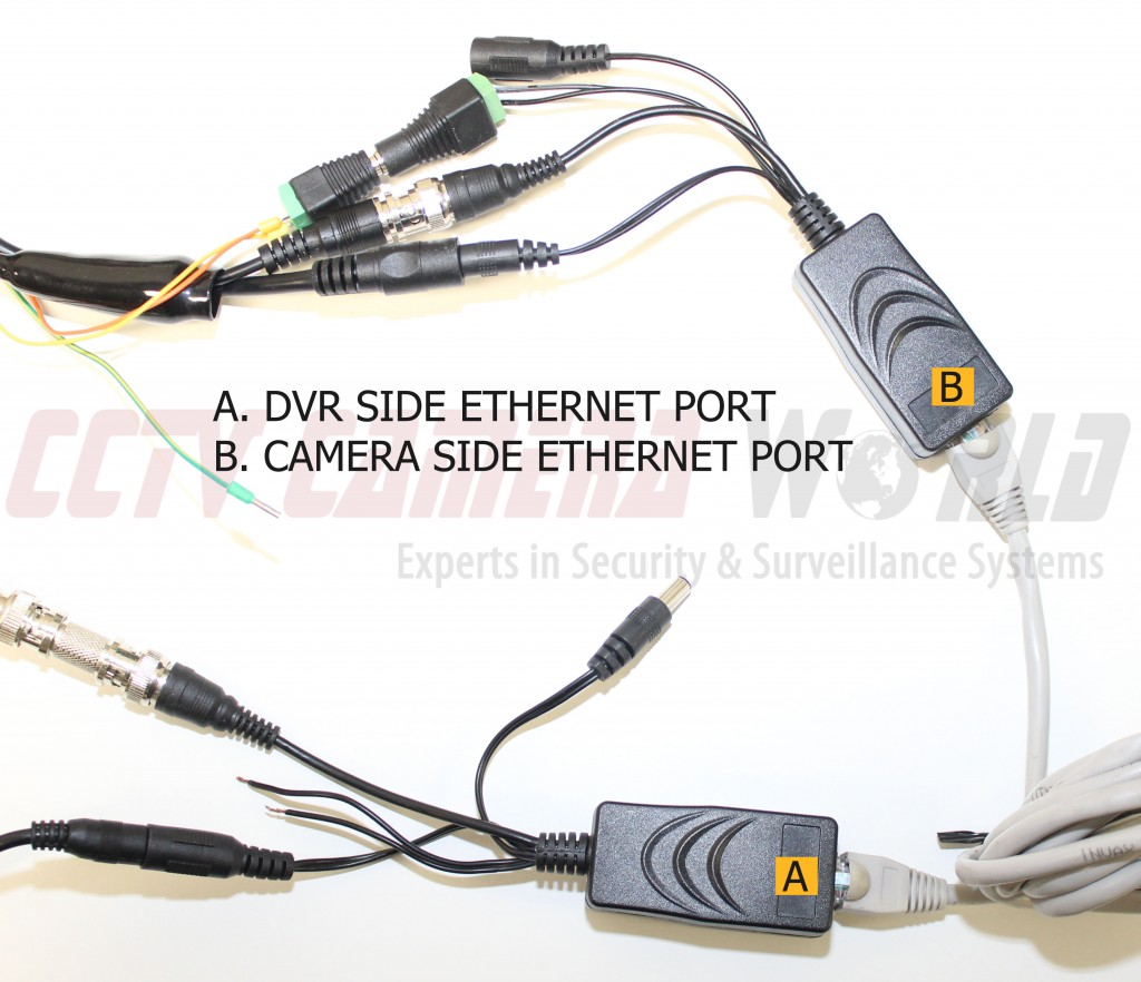connect your cat5e or cat6 network cable the rj45 port on part [a]  then  connect the other end of the cable to the rj45 port on