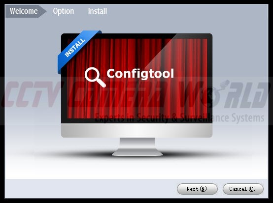 config tool welcome screen