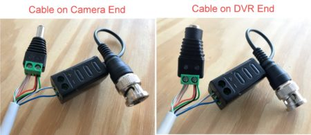 how to connect video balun and power terminal to cat5 wire leads