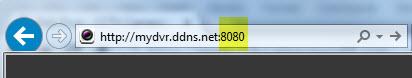 IE login using hostname and custom port