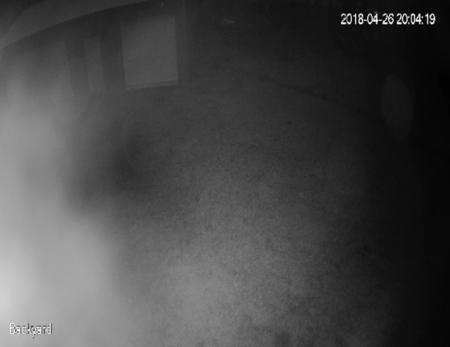 IR glare from fingerprints on the lens