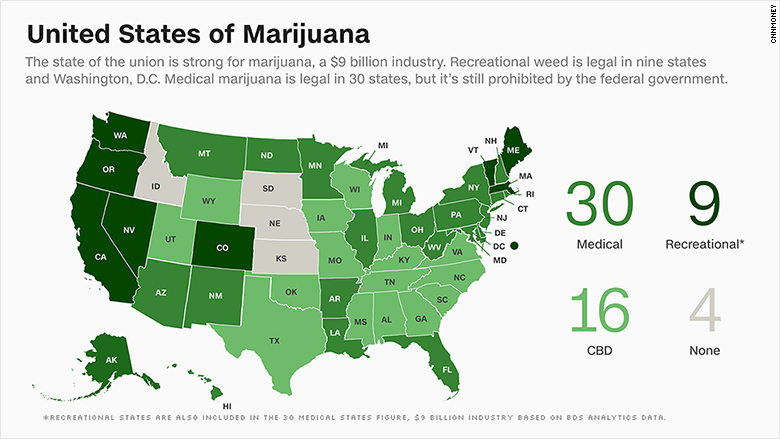 weed legality as of 2020