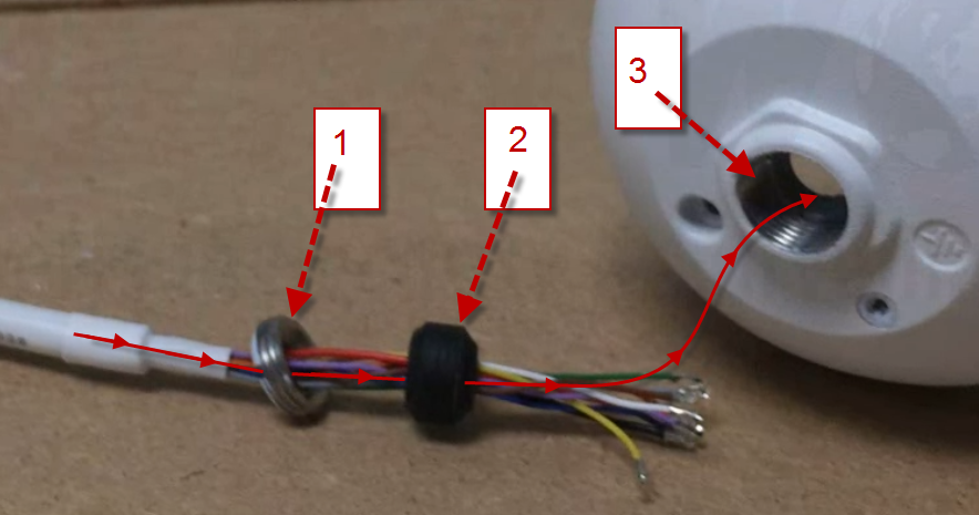 Security Camera Wire Repair   Ip Camera Repair Pigtail Replacement On A Dome Security Camera