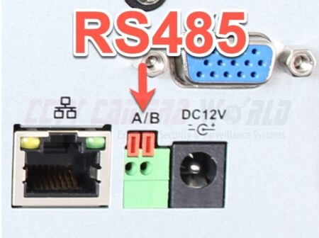rs485 connection on back of recorder