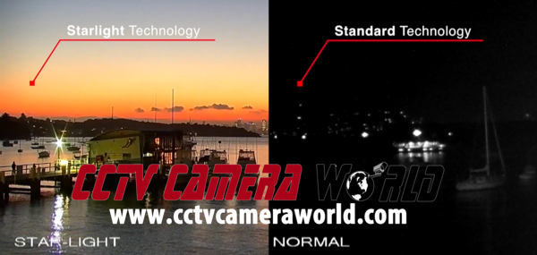 Starlight technology allows this camera to see in color in very low light