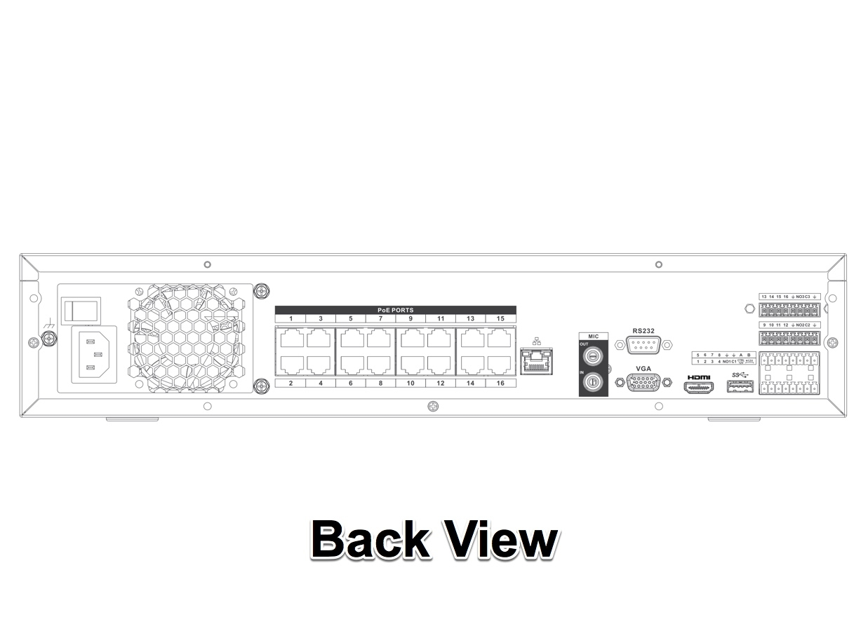 32 Channel 4K NVR with 16 PoE