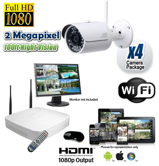 7769325a601 4 Wireless Security Camera System HD 1080P