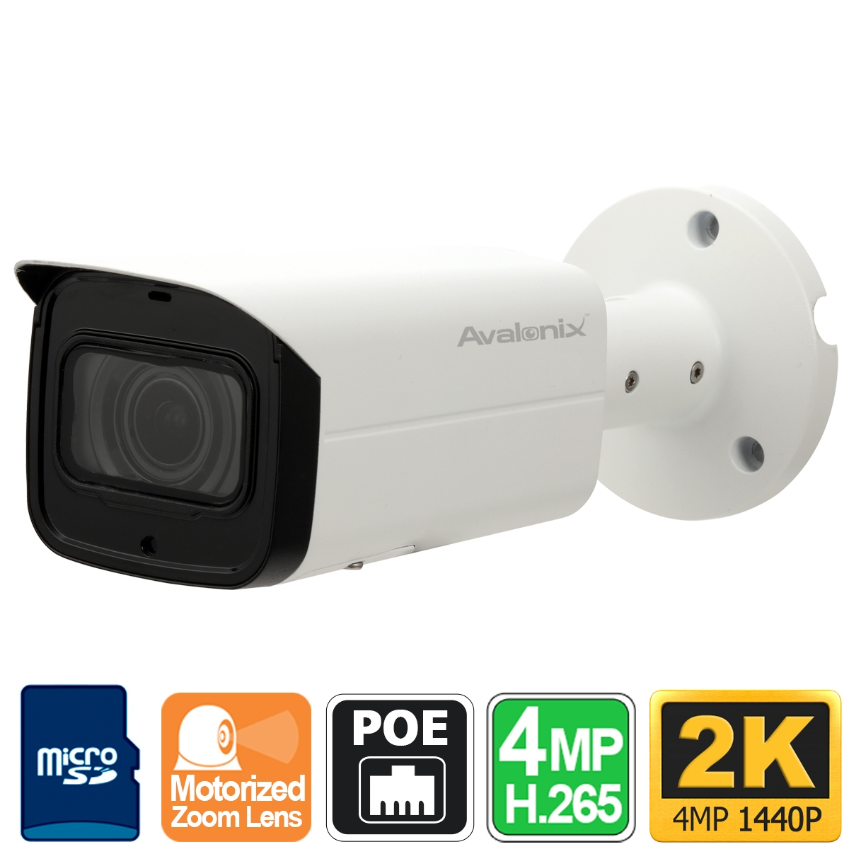 2k Outdoor Security Camera With Motorized Zoom 200ft
