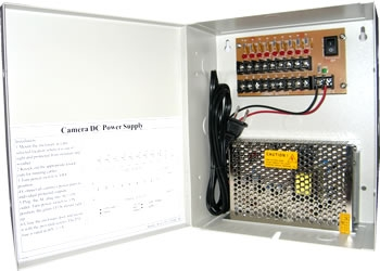 16 Ch Channel Power Supply Distribution Box 12V DC 10A for CCTV Security Camera
