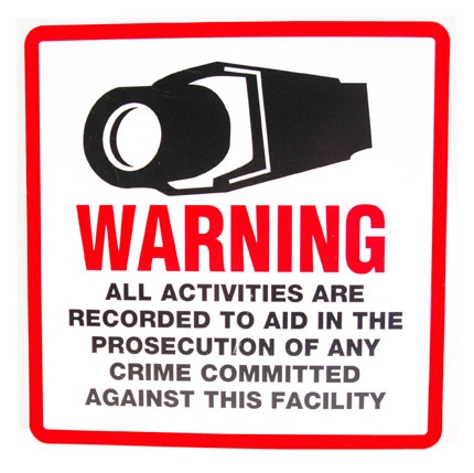 Security Warning Sign for Outdoor/Indoor