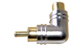 90 degree RCA Male to RCA Female Adapter