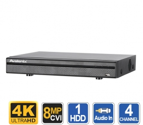 4 Channel 4K DVR Recorder