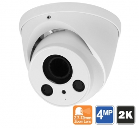 2K 4MP Dome Security Camera with 200ft Night Vision