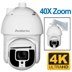 4K Outdoor Night Vision PTZ with Auto Tracking