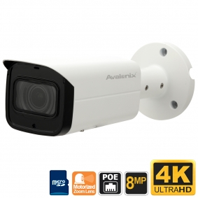 4K 8MP Security Camera Bullet, 4X Zoom