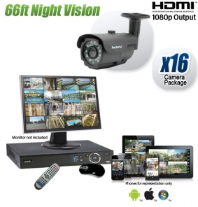 Outdoor 16 Camera Security System