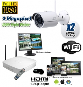 2 Camera Wireless Surveillance System 1080P