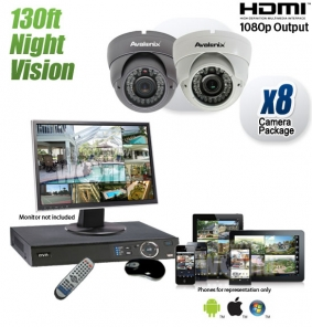 8 Night Vision Dome Camera System