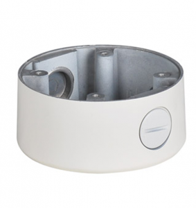 Small Junction Box for Dome Security Cameras - White