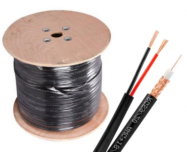Copper Cable Rolls : Ft solid copper rg cctv siamese video power cable