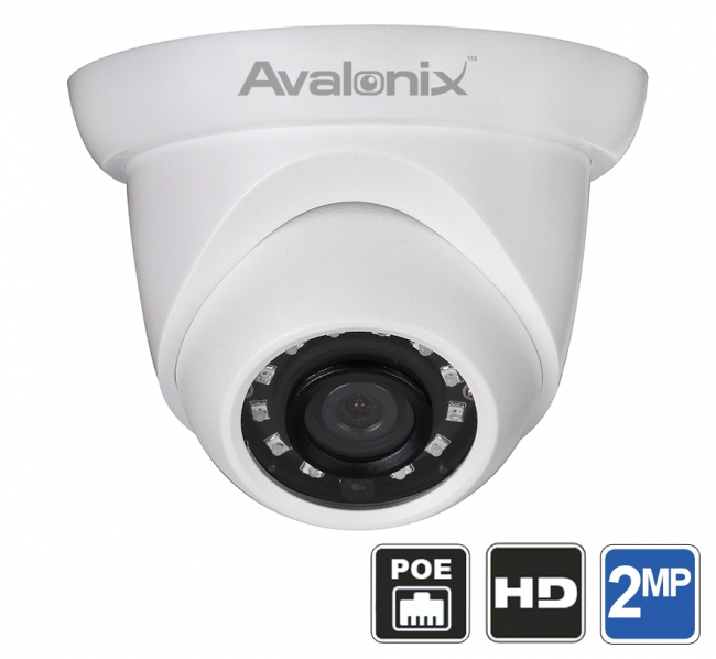 1080p 2mp Dome Camera Poe With Night Vision