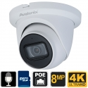 8MP 4K Security Camera Dome with Mic
