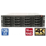 128 Channel 4K NVR for IP Cameras