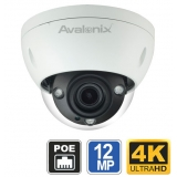 12MP 4K Ultra HD IP Dome Camera 4X Zoom