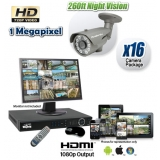 16 Camera HD-CVI System with Night Vision