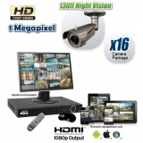 16 Camera HD CVI System with Night Vision