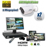 2MP CCTV System with 2 Outdoor Bullet