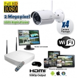 4 Wireless Security Camera System HD 1080P