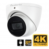 4K Turret Dome Camera, Built-in Mic