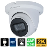 2K Starlight Turret Dome IP Camera, Microphone
