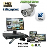 8 Camera HD-CVI Night Vision System