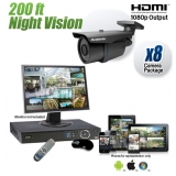 8 Security Camera System 200ft Night Vision