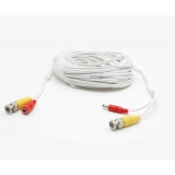 White 50ft Siamese Cable with Audio