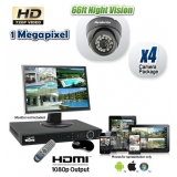 HDCVI 4 Dome Security Camera System