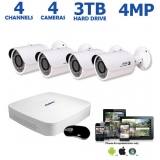 4-Channel 4MP IP Security Camera System