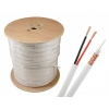 1000ft CCTV Siamese Cable RG59U with 18/2 Power, White