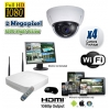 Wireless Dome Security Camera System 1080P