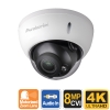 4K Dome Security Camera with Zoom, 24VAC 12VDC Dual Voltage