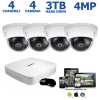 4-Channel 4MP IP Dome Camera System